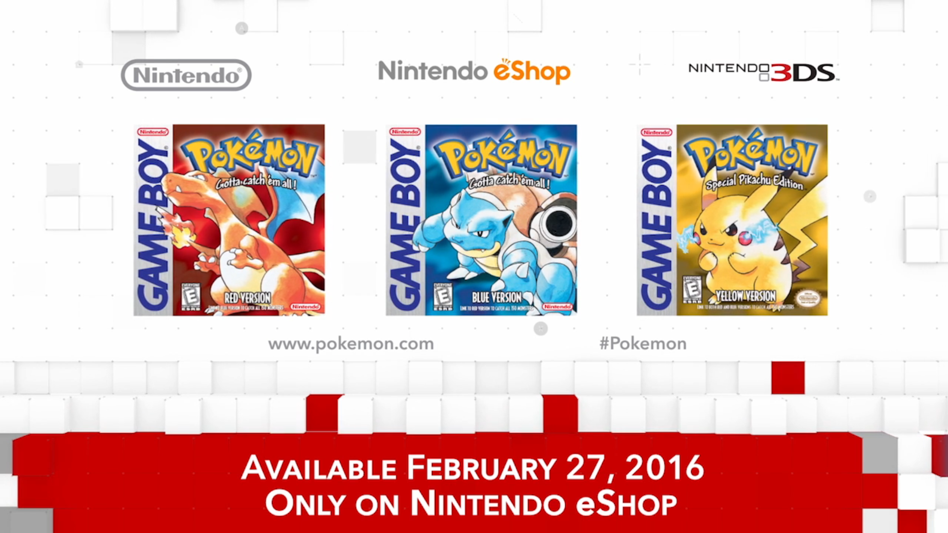 Nintendo Direct Pokemon Red Blue And Yellow On 3ds Hey Poor Player