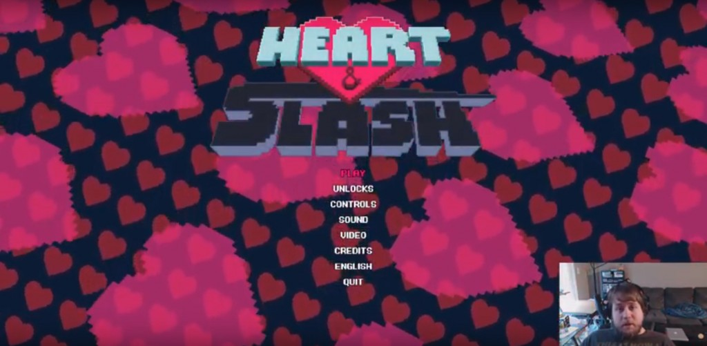 Heart & Slash Title