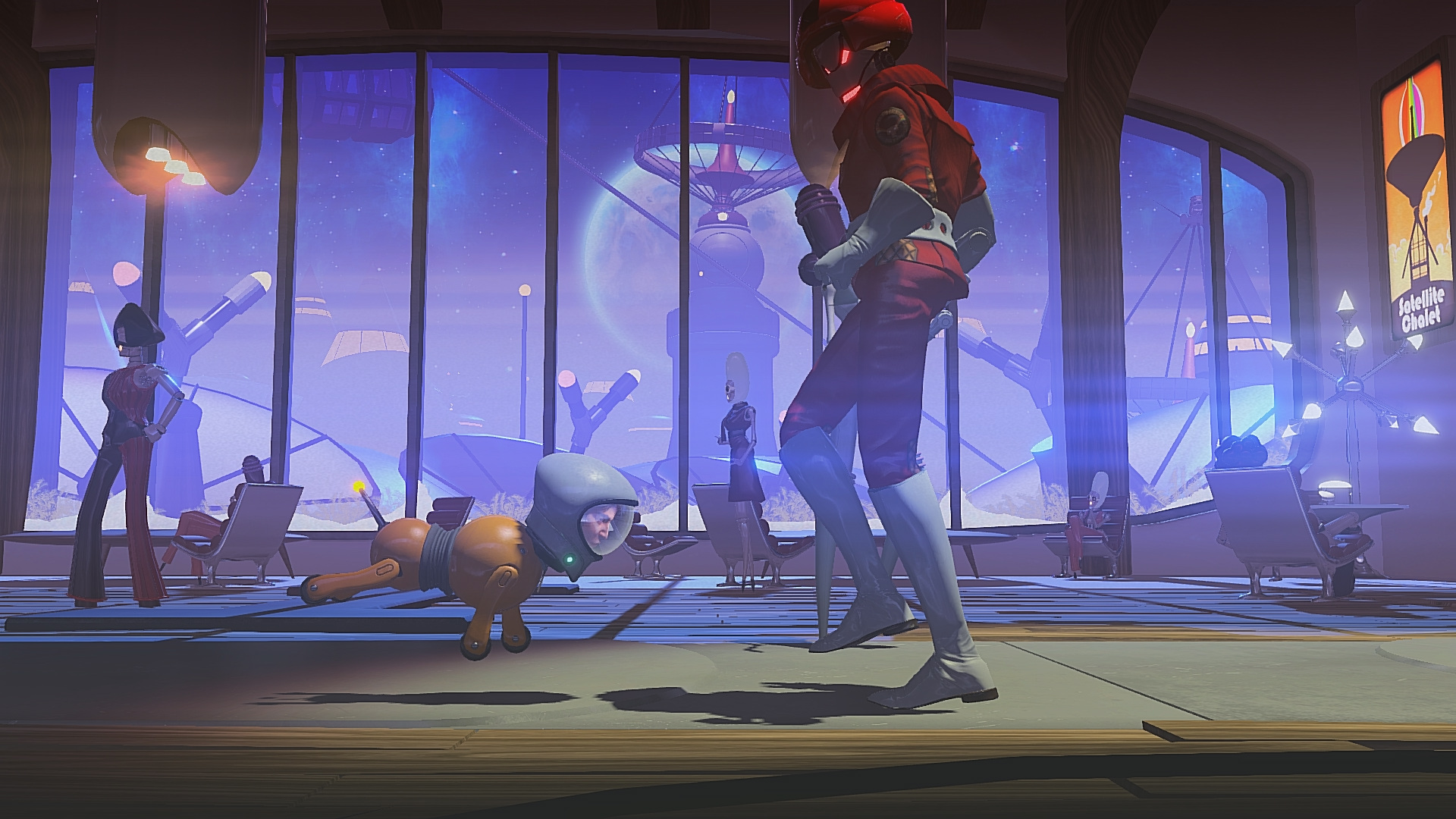 Ps4 Games Science Fiction : Headlander review ps hey poor player