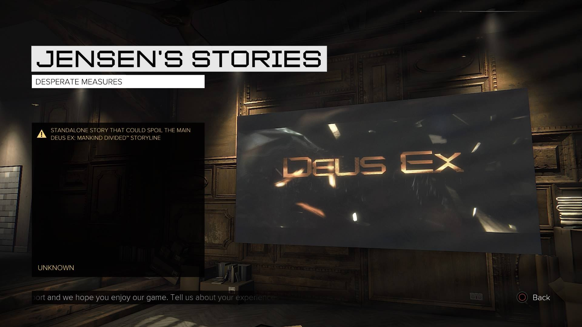 Deus Ex Jensens Stories