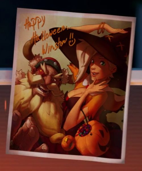 mercy polaroid skin halloween