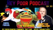 album art for hey poor podacast episode 103: the hey poor player cinematic universe