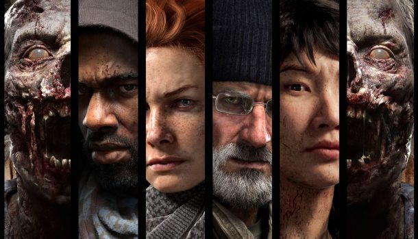 Four Main Playable Characters in The Walking Dead from OVERKILL