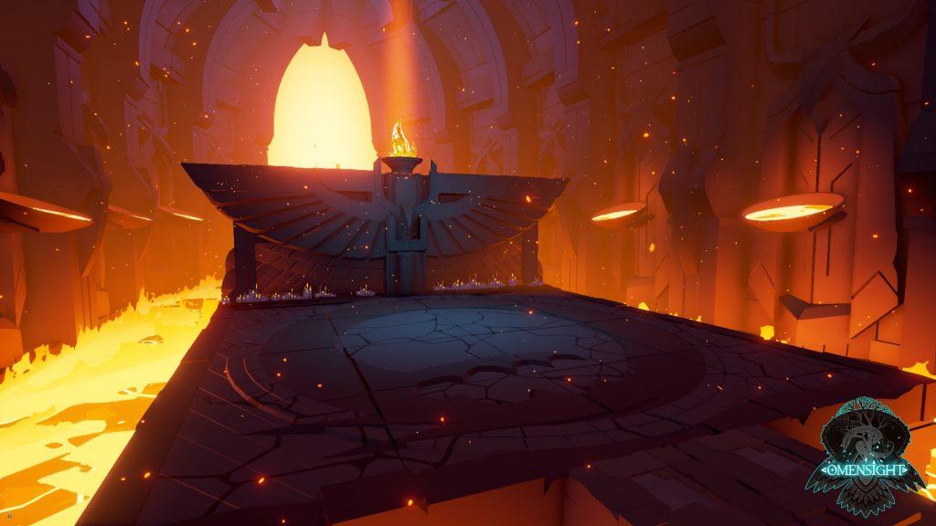 Omensight level design featuring lava