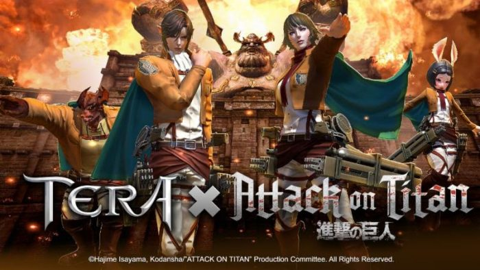TERA x Attack on Titan Collaboration