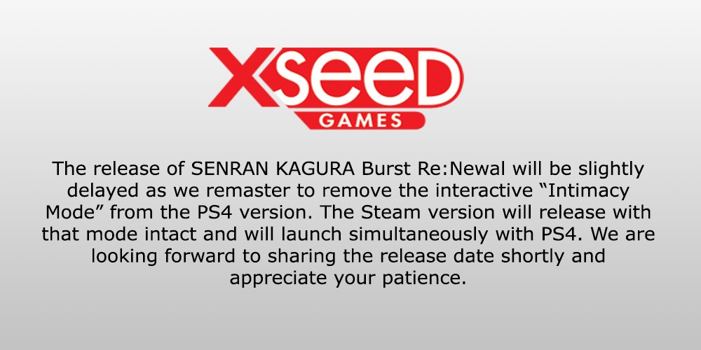 Farewell Sony | XSEED's Statement