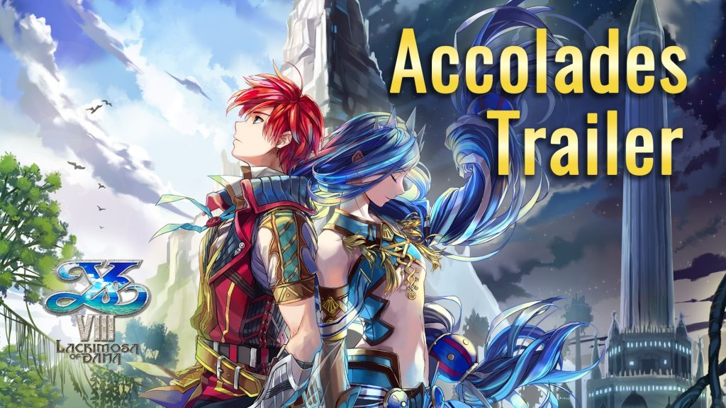 Ys VIII: Lacrimosa of Dana Accolades Trailer Banner