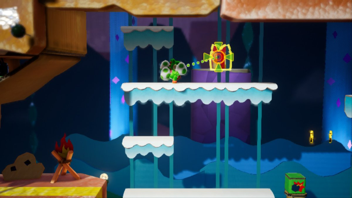 Mine-Cart Cave Collectibles (Yoshi's Crafted World Guide
