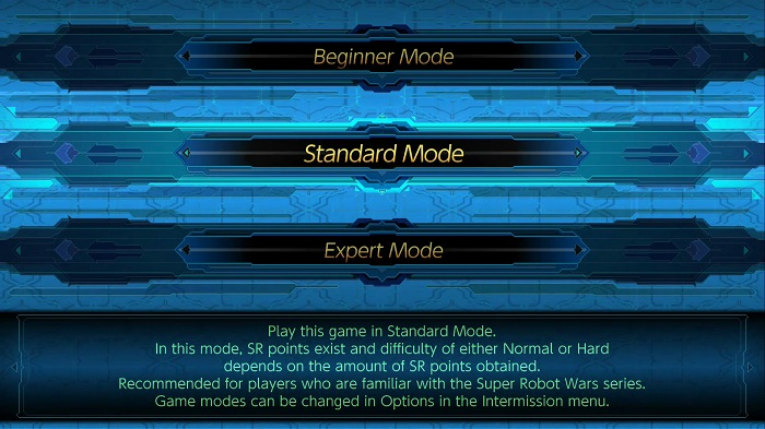 Super Robot Wars T | Difficulty Select