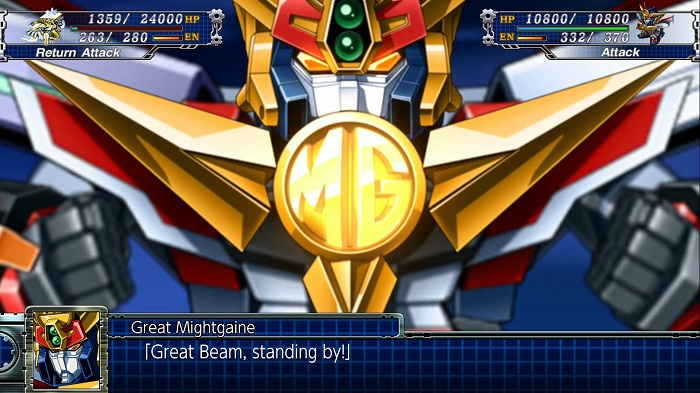 Super Robot Wars T | Great Mightgaine's Great Beam