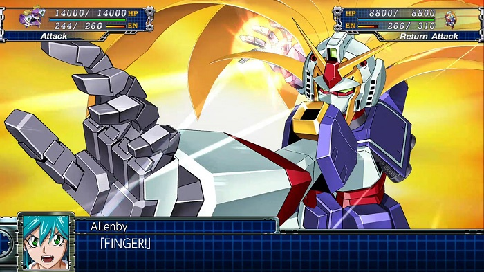 Super Robot Wars T | Noble Gundam's Burning (God) Finger