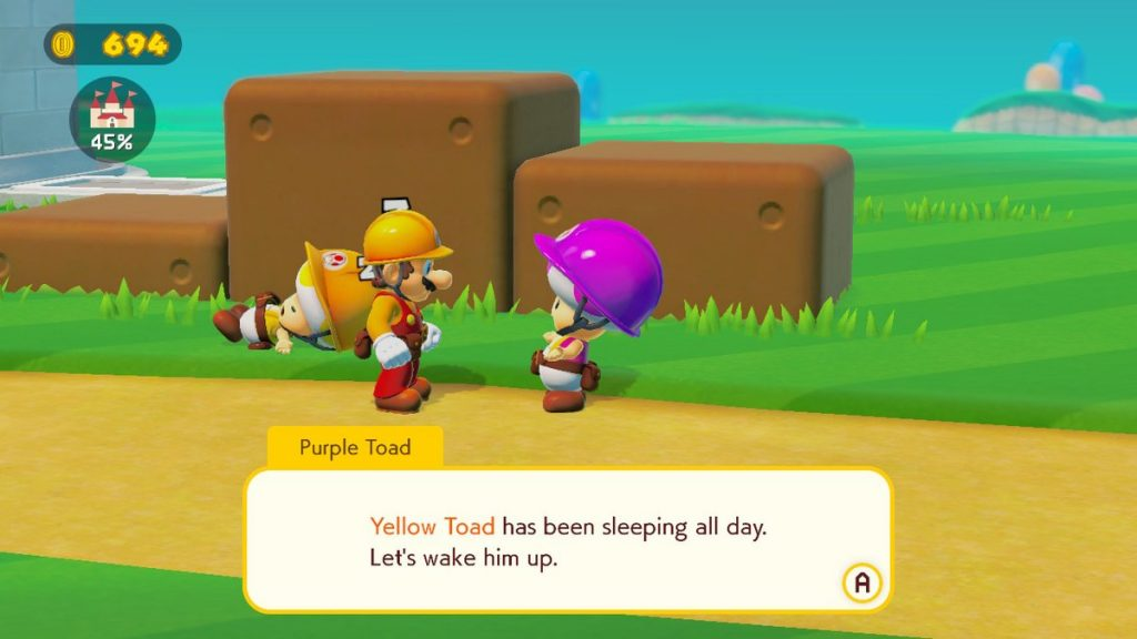 yellow toad mario maker 2 guide
