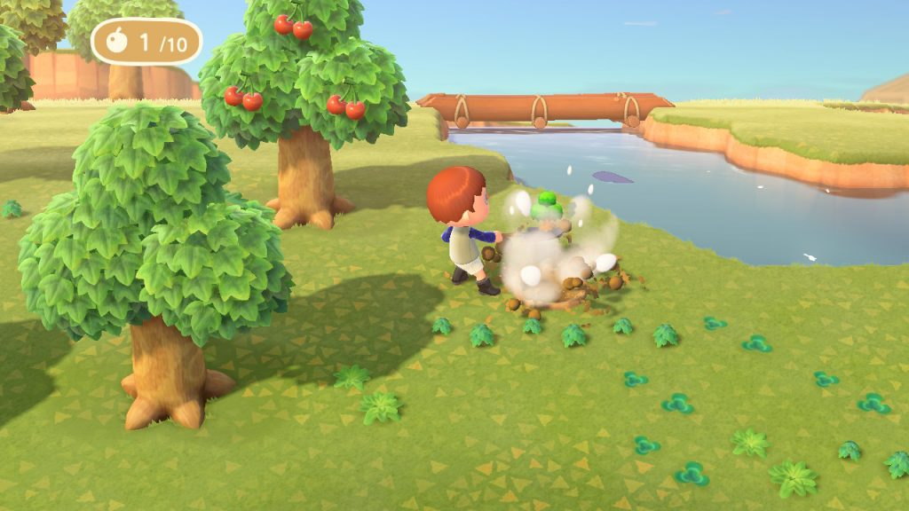 animal crossing: new horizons fruit eating