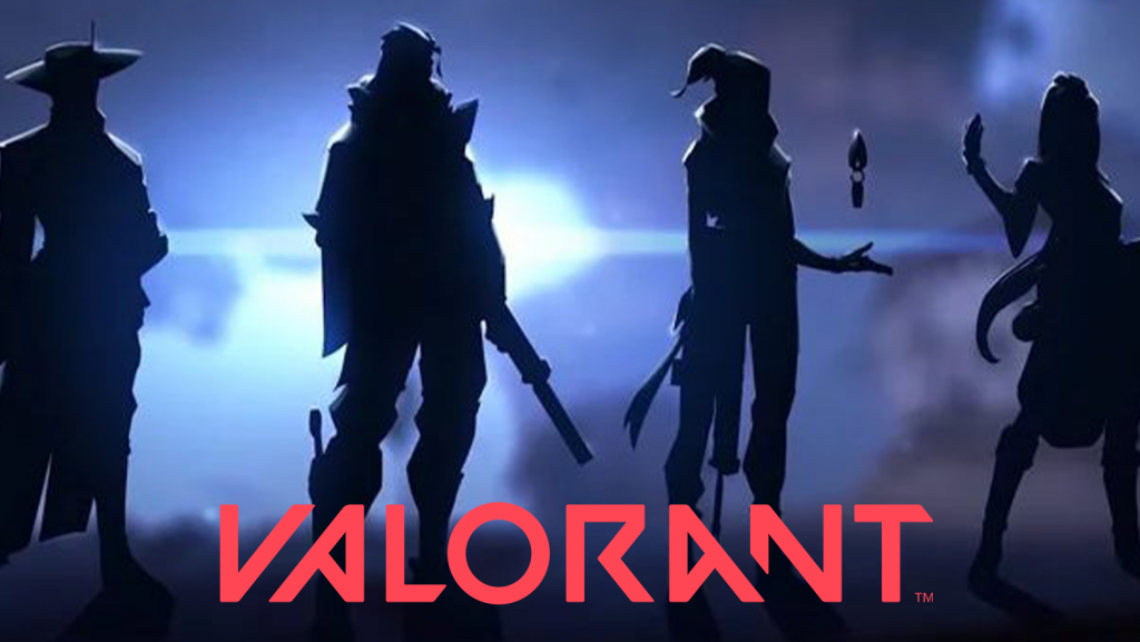Valorant Title Image with characters in Silhouettes