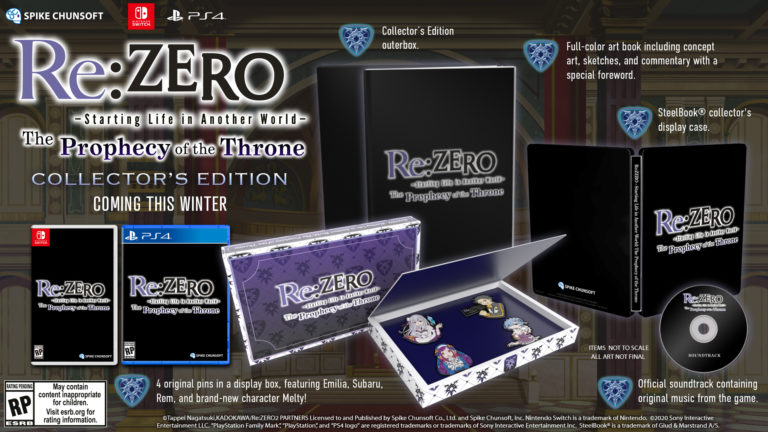 Re:ZERO - Starting Life in Another World: The Prophecy of the Throne Collector's Edition