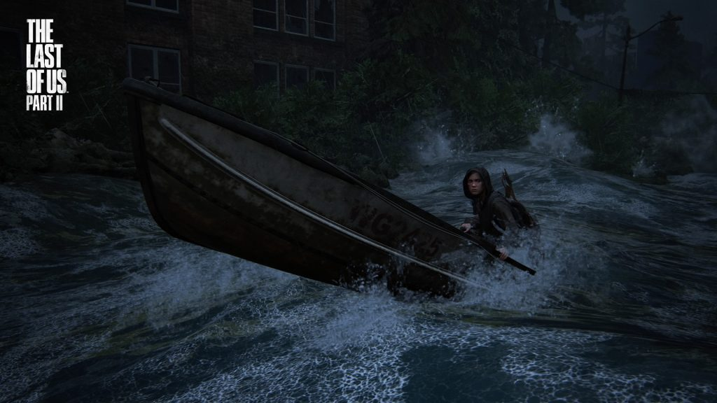 Ellie Boating Last of Us II