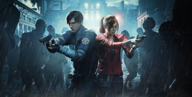 Leon and Claire in RE2 Takes Second In Our top horror games of the 2010s