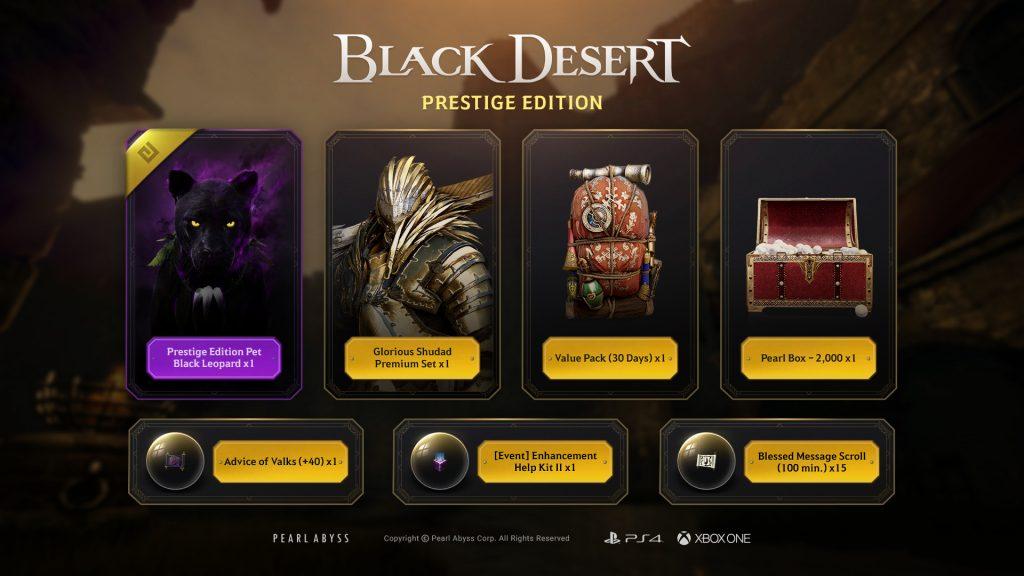 Black Desert: Prestige Edition Content