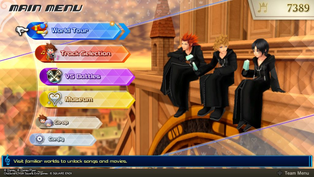 Kingdom Hearts MoM | Main Menu