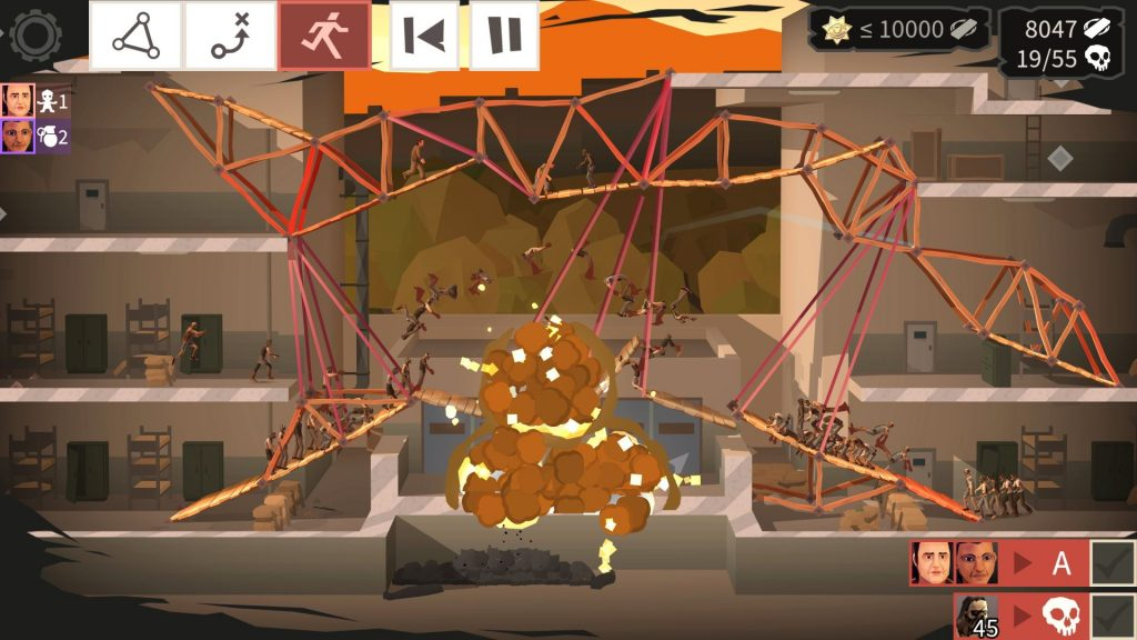 Bridge Constructor: The Walking Dead   Physics