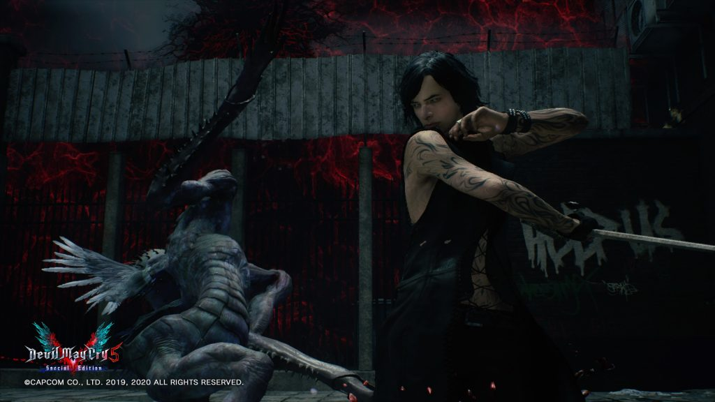 in devil may cry 5 V finishes an enemy