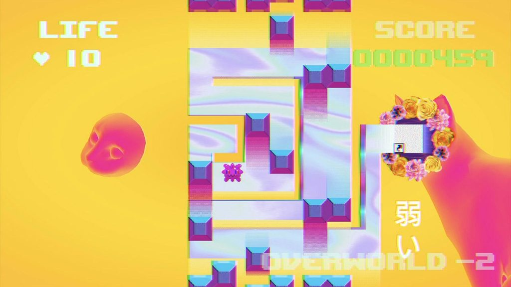 The game effortlessly bounces between Vapor Wave, Glitch, and Web Punk art styles to great effect.
