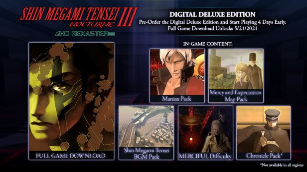 SMTIII Nocturne HD Remaster Digital Deluxe Edition