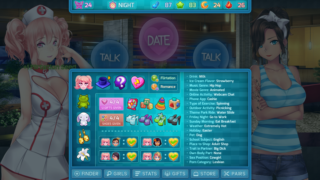HuniePop 2 candace gifts