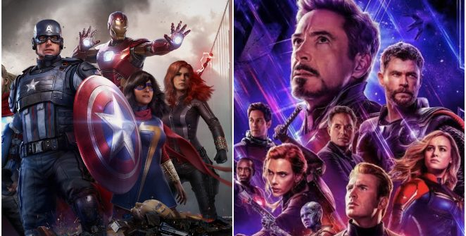 Marvel's Avengers and Avengers side by side comparison of each team