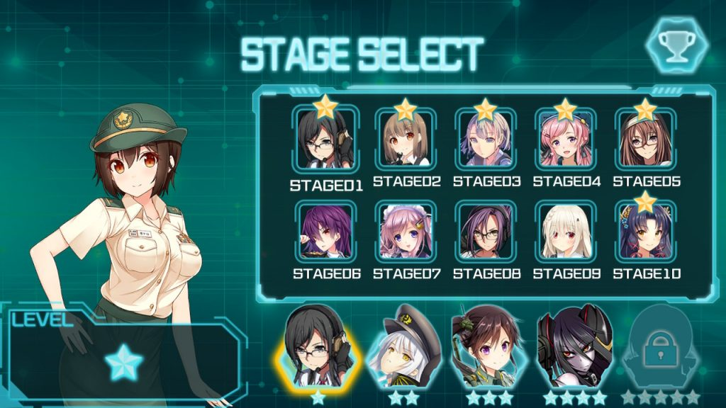 Bishoujo Battle Cyber Panic! Review Stage Select
