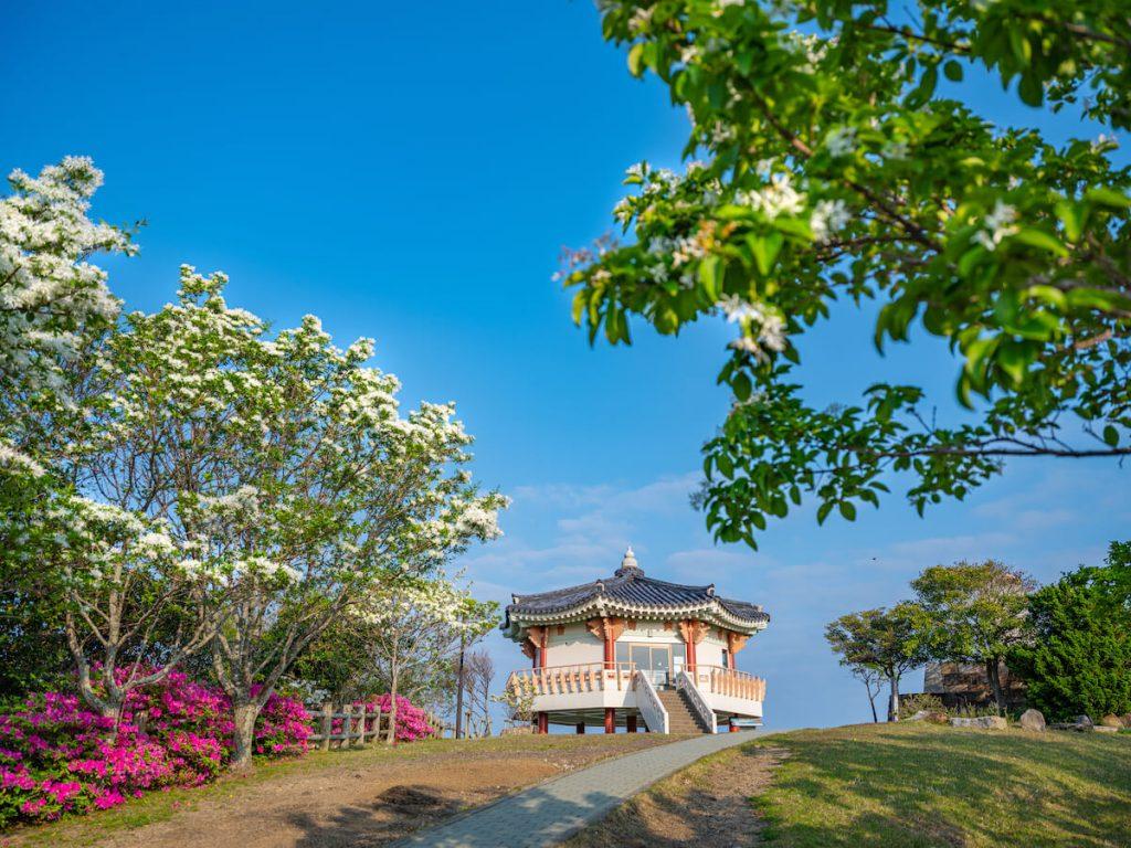 Tsushima Observation Deck Korean Peninsula