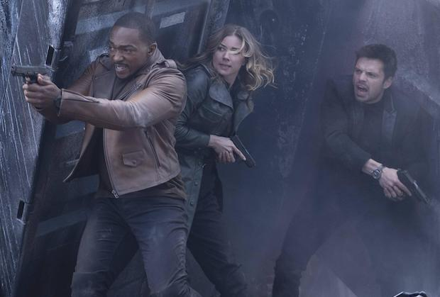 Sam, Sharon, and James, as they shootout of the lab