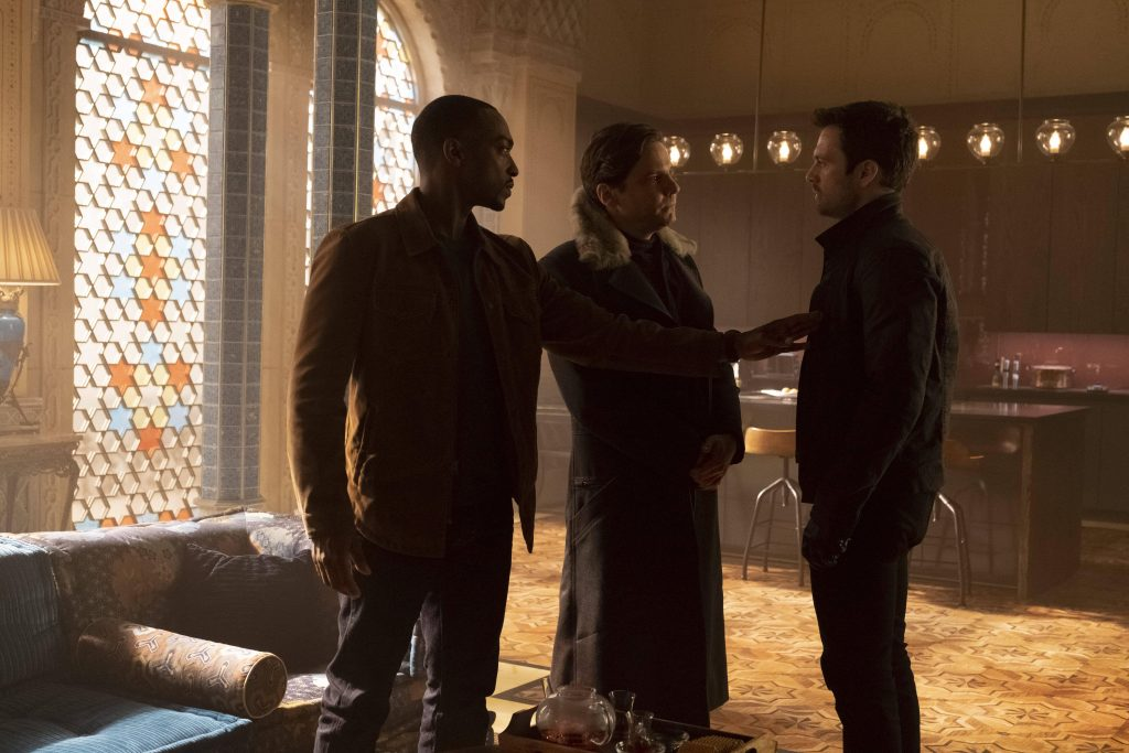 Sam, Zemo, and Bucky formulate a plan in episode 4
