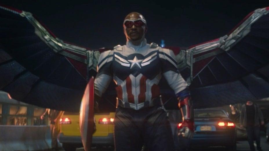 Sam as captain America