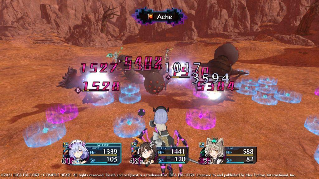 Death end re;Quest Combat