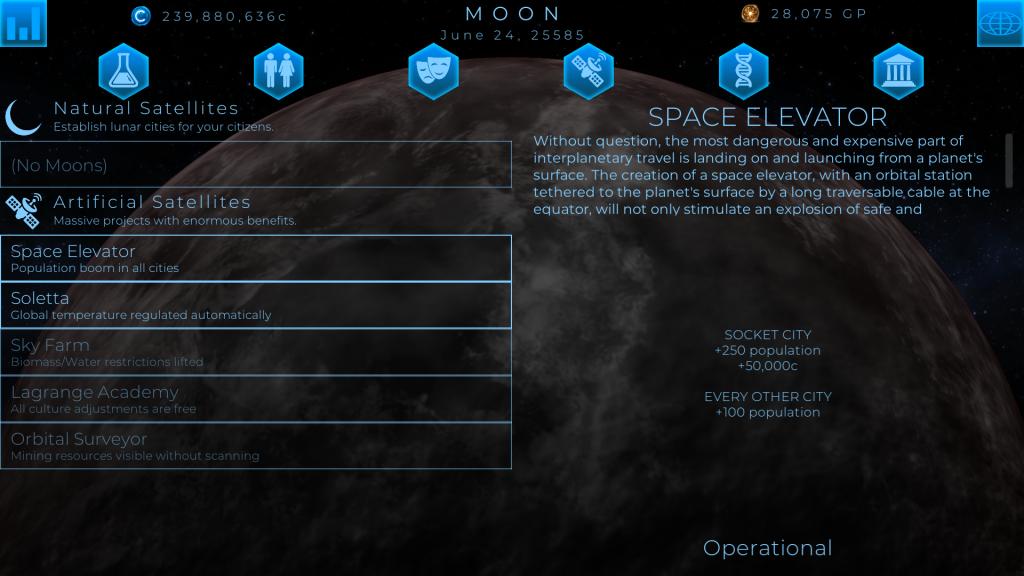 space elevator terragenesis