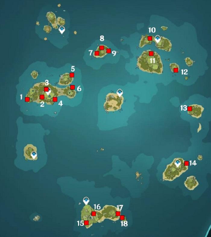 Genshin Impact, Painted Walls, location Map