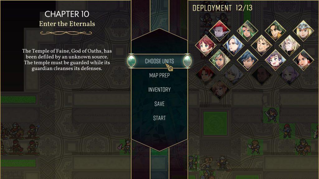 Dark Deity Review   Preparation Screen
