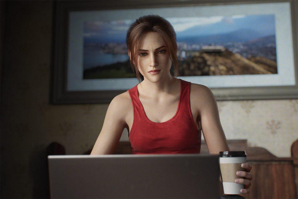 claire redfield does research