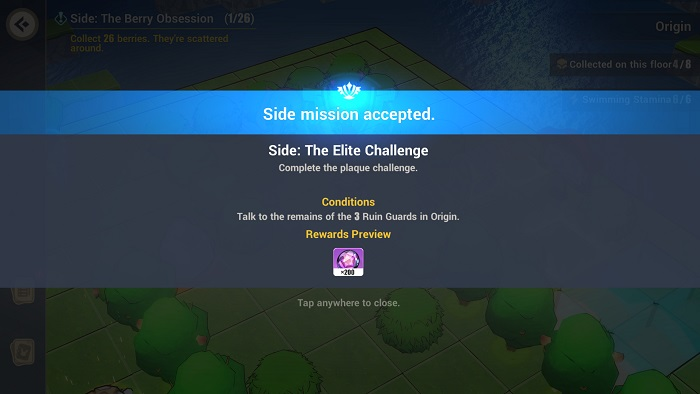 ruin guard, challenge, sidequest